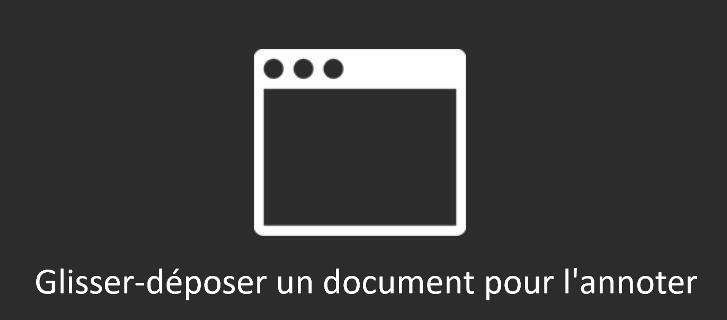 Glisser-déposer un document pour l'annoter